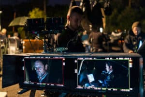 "UKRAINE. Kiev, May 2018. ""The Bureau"" shooting directed by Eri Rochant."